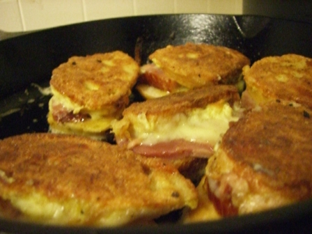 cooking croques