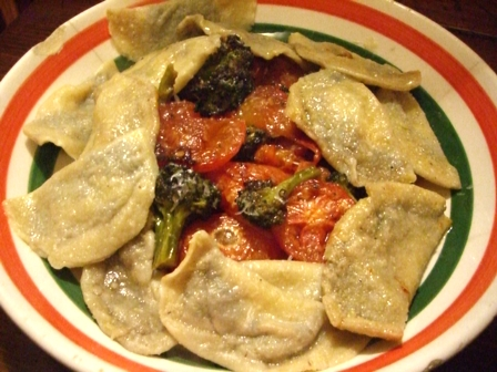Raviolis and Roasted Veg