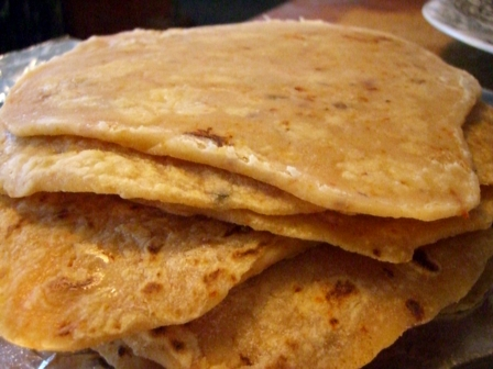 Stack of chipotle tortillas