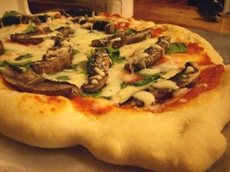Portobello Spinach Pizza