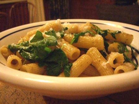 Penne with Arugula and Shrimp