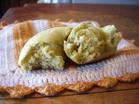 Halved biscuit