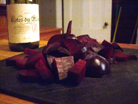 Beets and wine