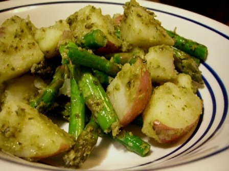Grilled Asparagus and Potato salad