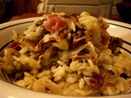 Radicchio and Proscuitto Risotto