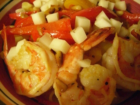 shrimps and peppers