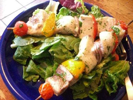 Lettuce beddedkebabs
