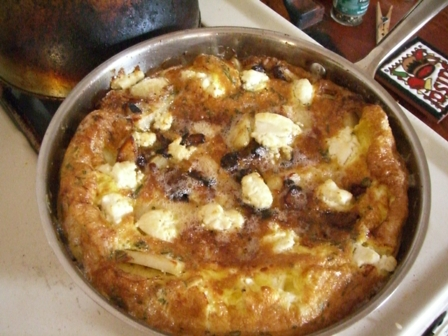 Frittata, out of the broiler.