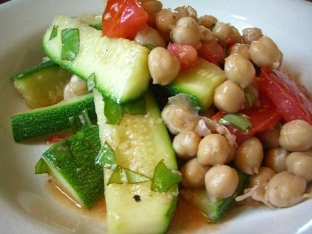Summery Zucchini and Chickpea Salad | The Kitchen Illiterate