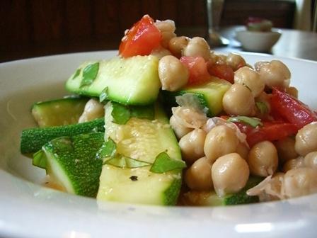 Zucchini and CeciBeans