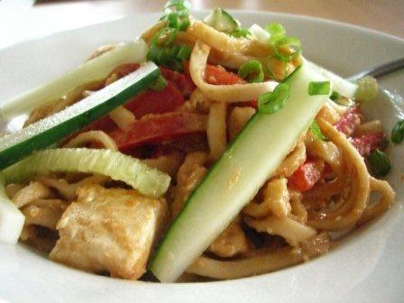 Tofu, Noodles, and PeanutSauce