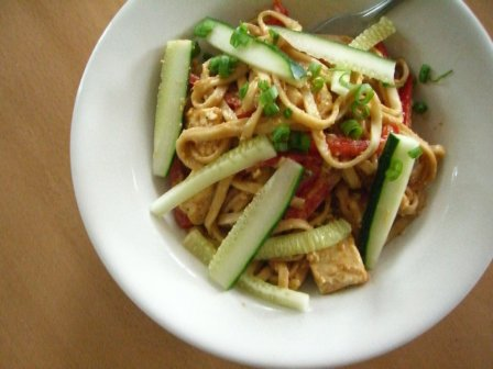 Tofu andnoodles