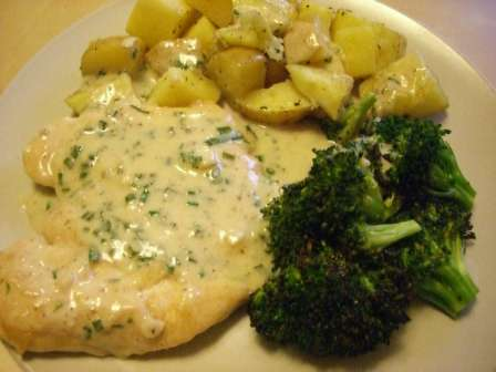 Chicken in Creamy Chive Sauce