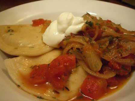 Pierogies and Onions